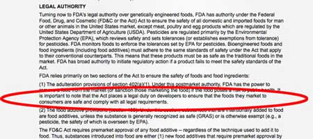 FDA Does not test Genetically Engineered GE foods