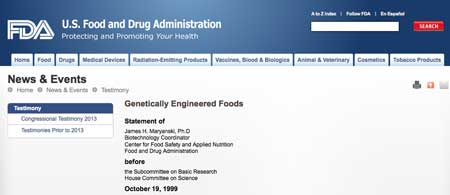 GE Foods not tested by FDA