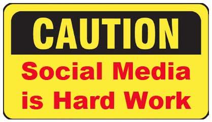Social Media Caution Sign