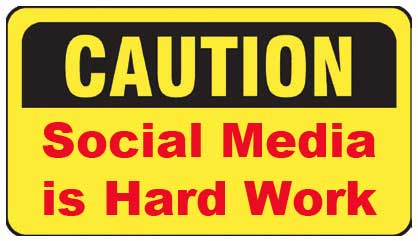 Social Media Caution Sign