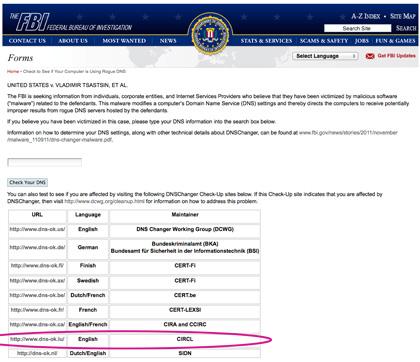 FBI DNS