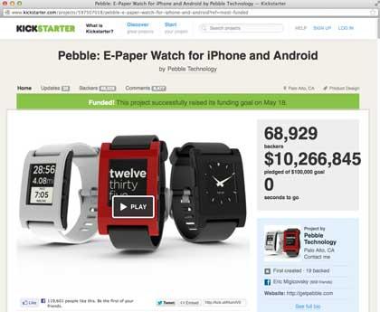 Kickstarter Pebble ePaper