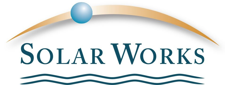 Solar Works logo (bluest earth)