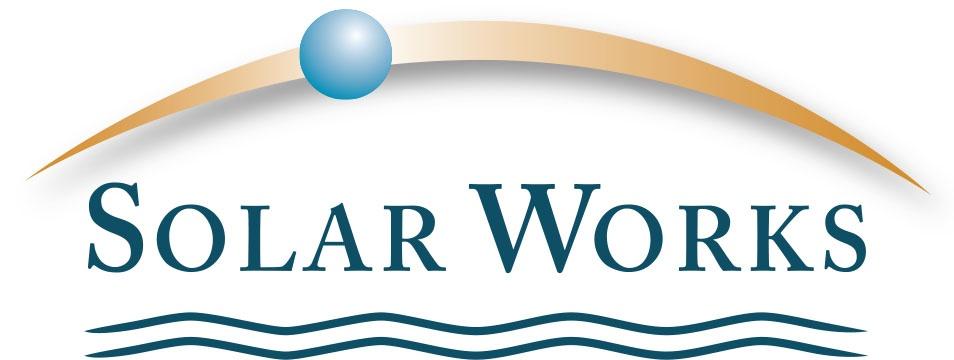 Solar Works logo (bluest earth)